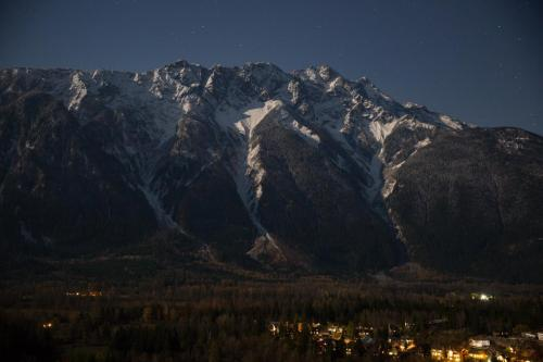 Full moonlight on Mt.Currie